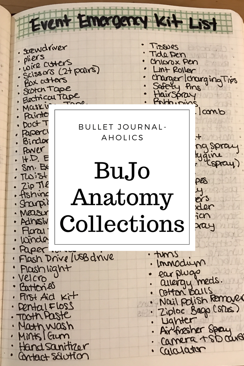 anatomy – Bullet Journal-Aholics