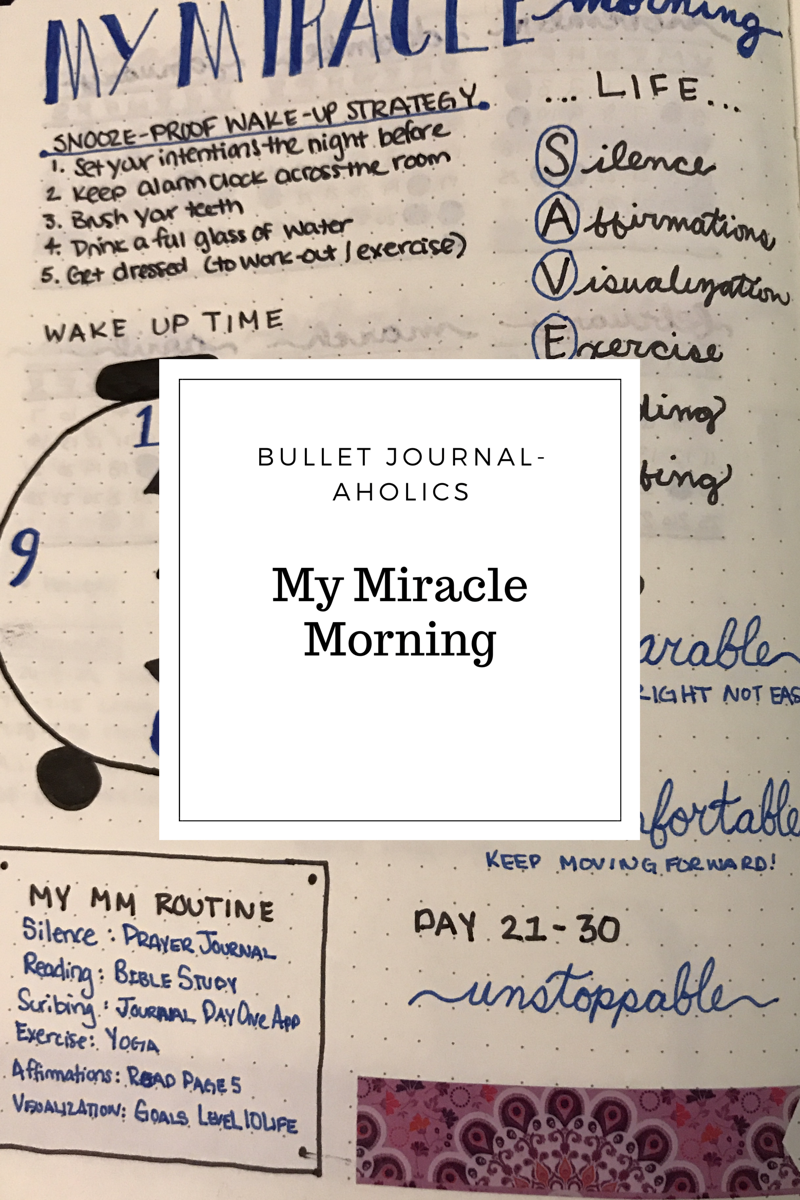 the morning bullet Start your morning off right - mindful and organized create a miracle morning routine using your bullet journal and just a bit of your time.